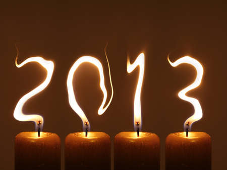 Happy new year 2013 - PF 2013 Stock Photo