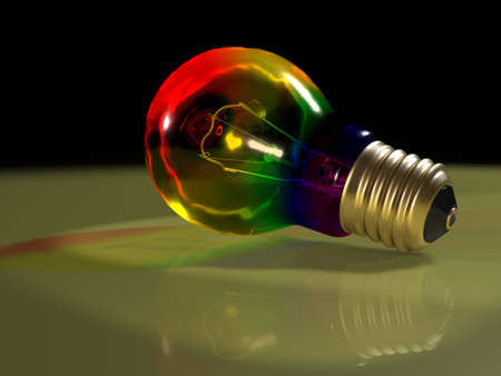 Rainbow bulb scene Stock Photo - 12995503