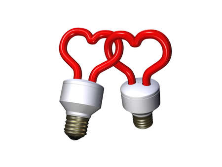 Compact fluorescent lamps - couple Stock Photo - 12995492