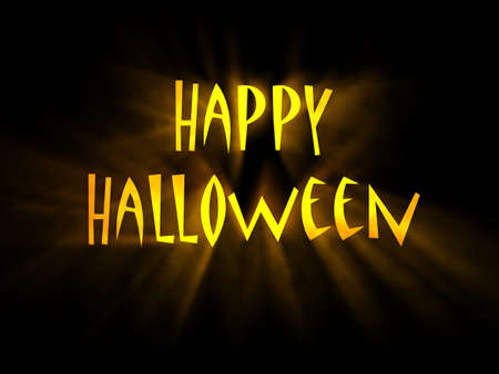 Text Happy Halloween with glowing rays of light Stock Photo - 12995511