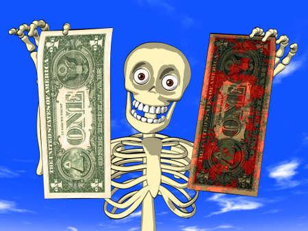 Dirty money Stock Photo - 12995539