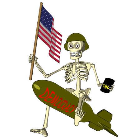 Democracy or oil - U S  soldier