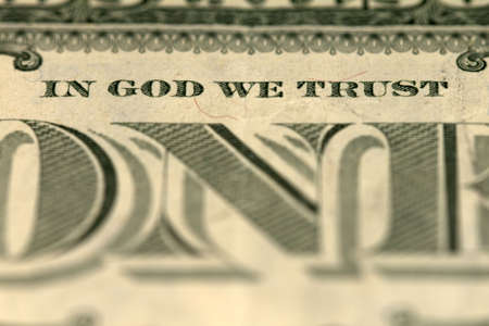 In God we trust - banknote one dollar Stock Photo - 12995524
