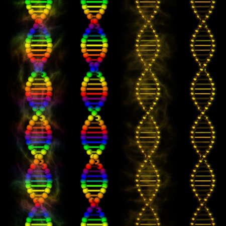 DNA - rainbow deoxyribonucleic acid on black background Stock Photo - 13446864