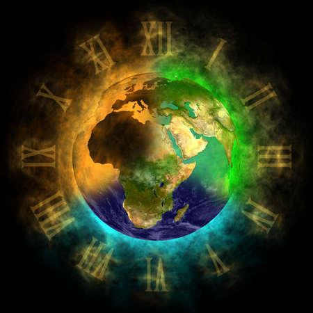 2012 - Transformatie van het bewustzijn op Aarde - Europa, Azië, Afrika Stockfoto