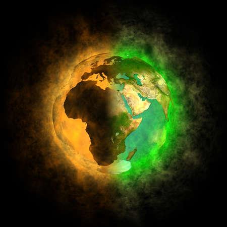 2012 - Transformatie van de Aarde - Europa, Azië, Afrika Stockfoto