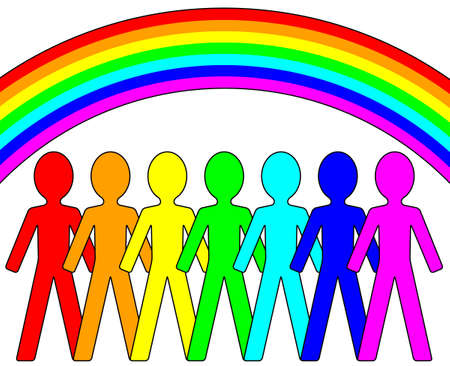 Rainbow People Stock Vector - 13741961