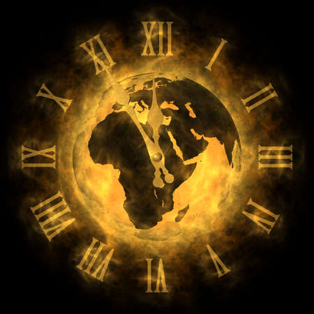 Cosmic time - global warming and climate change - Europe Stock Photo