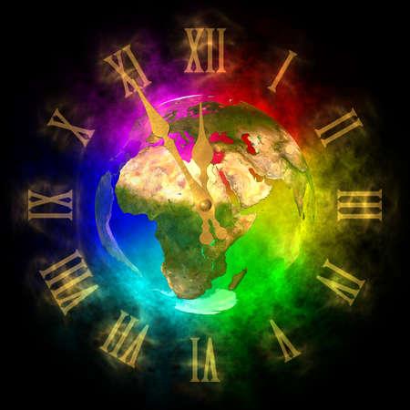 optimistic: Cosmic clock - optimistic future on Earth - Europe