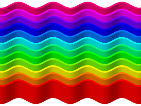 Rainbow wave background Stock Photo - 13741969