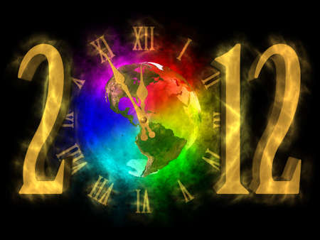 mayan prophecy: Magical year 2012 - time for change - America Stock Photo