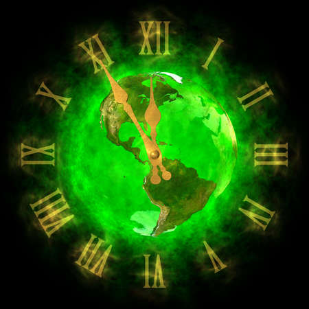 world atlas: Good time on green planet Earth - America Stock Photo