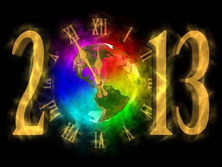 Happy new year 2013 - America Stock Photo - 13933447