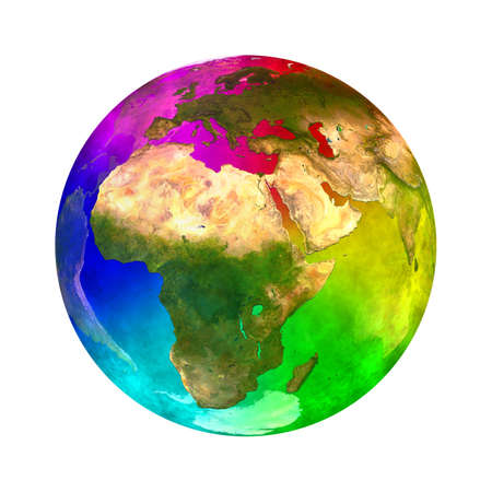 africa continent: Rainbow and beauty planet Earth - Europe, Asia and Africa