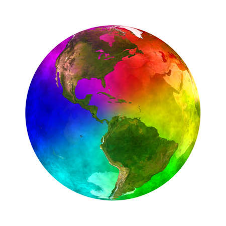 Rainbow and beauty planet Earth - America