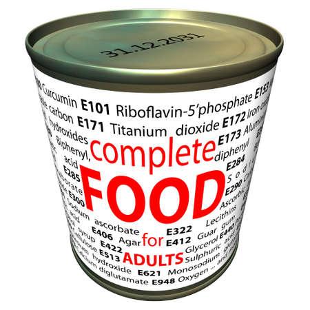 stabilizers: La comida sana y la qu�mica - aditivos alimentarios Foto de archivo
