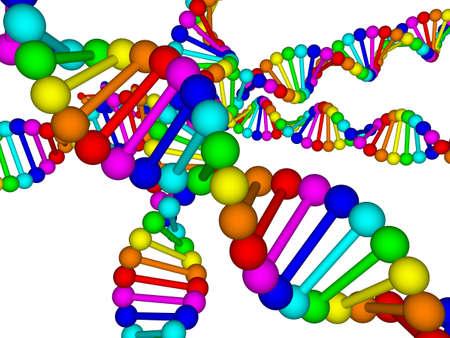 deoxyribonucleic: 3D illustration of deoxyribonucleic acid  DNA
