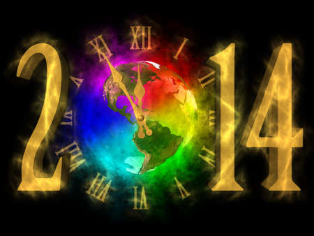 Happy new year 2014 - America Stock Photo