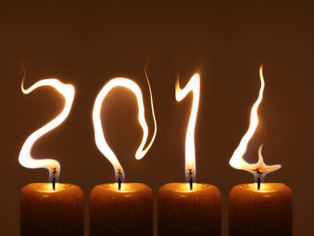 Happy new year 2014 - PF 2014 Stock Photo