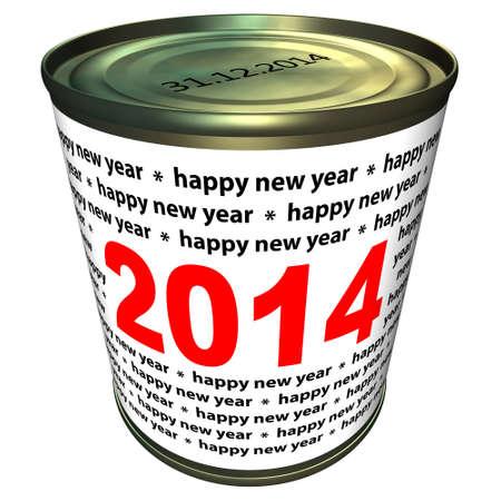 Gelukkig Nieuwjaar 2014 - kan met cijfers 2014