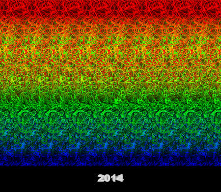 pour feliciter: 2014 - stereogram  autostereogram  - illusion of a 3D image Stock Photo