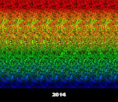 2014 - stereogram autostereogram - illusie van een 3D-beeld van Stockfoto