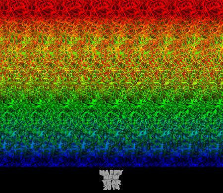Gelukkig Nieuwjaar 2014 - stereogram - illusie van een 3D-beeld van Stockfoto