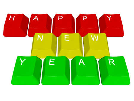 PC keys Happy New Year Stock Photo - 24102205