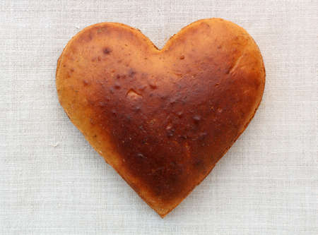 Photo of homemade bread in the shape of heart