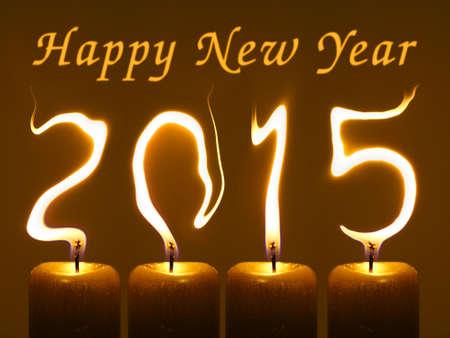 Gelukkig Nieuwjaar 2015 Stockfoto