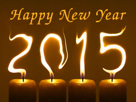 pour feliciter: Happy new year 2015 Stock Photo