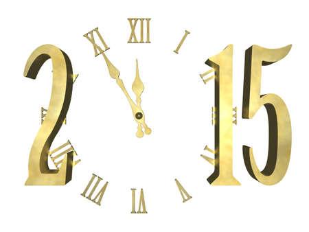 Gelukkig Nieuwjaar 2015 - klok begrip