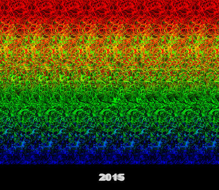 Happy new year 2015 - stereogram