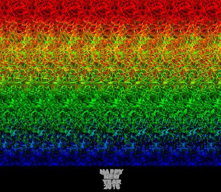 Gelukkig Nieuwjaar 2015 - stereogram (autostereogram) creëert de illusie van een 3D-beeld
