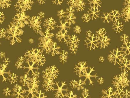 Kerstmisachtergrond met glanzende gouden sneeuwvlokken - illustratie