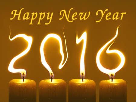Gelukkig Nieuwjaar 2016 Stockfoto - 48955844
