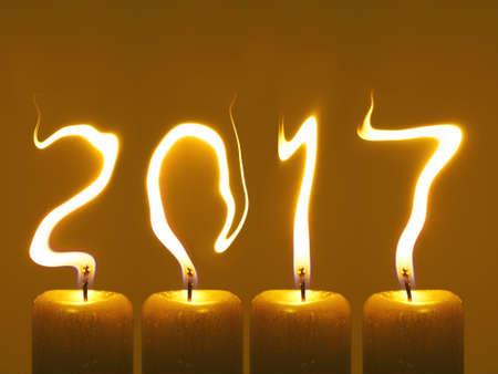 Gelukkig Nieuwjaar 2017 - kaarsen