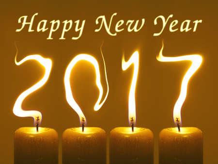 2017 Happy new year greeting Stock Photo