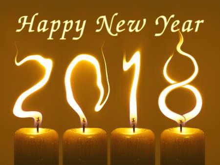 2018 Happy New Year wenskaart