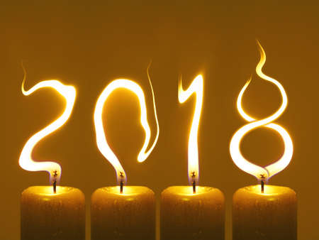 Happy new year 2018 - candles