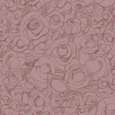 Seamless vector pattern with roses  Vector