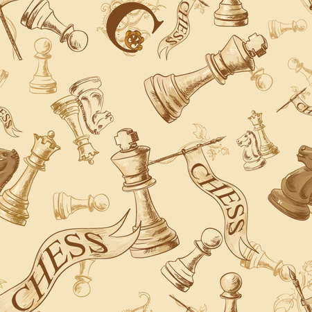 xadrez: Seamless vector pattern with chess