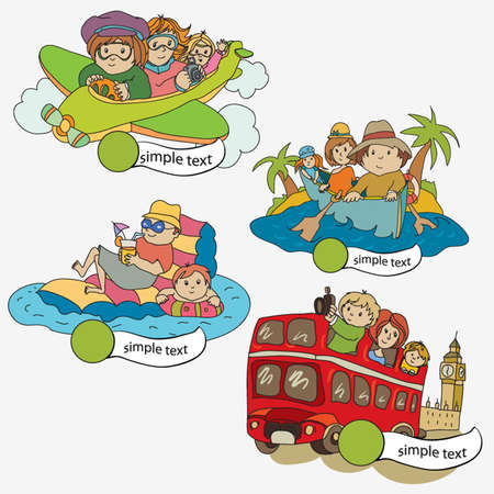 Travelers Vector icons Stock Vector - 12327837