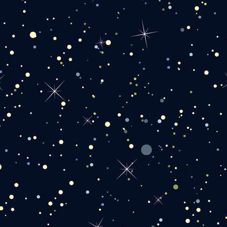 milkyway: Nachthemel met sterren Naadloze achtergrond, behang Stock Illustratie