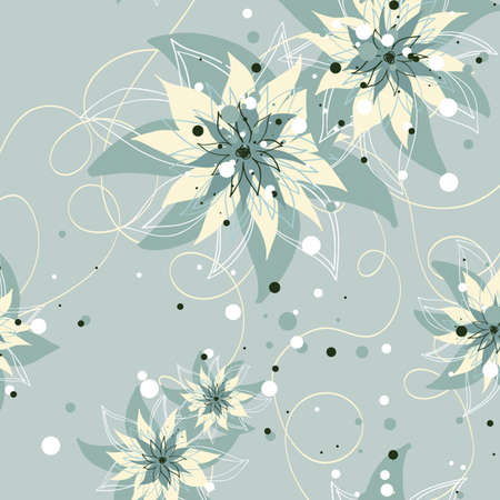 Seamless floral pattern. Flowers texture  Vector