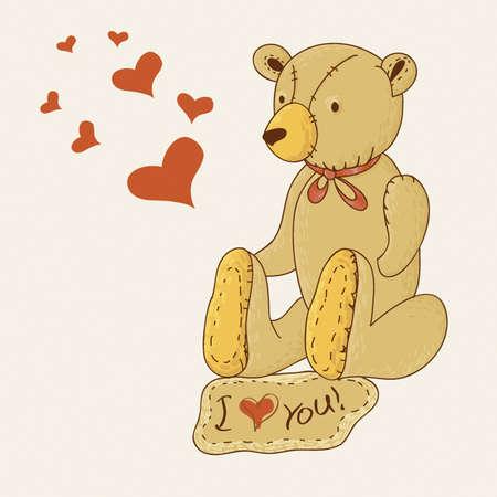 cuddle: Teddy bears with Hearts