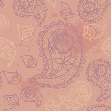 seamless paisley pattern Fashionable modern wallpaper or textile  Vector