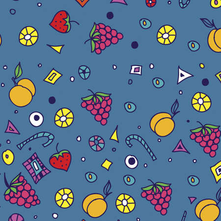 seamless pattern with fruit  seamless ornament  Vector