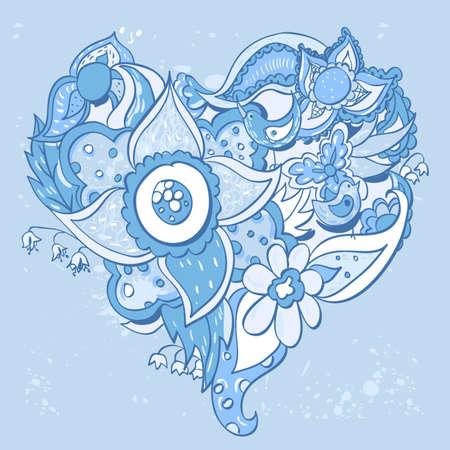 heart-flower Flower heart shape  Vector