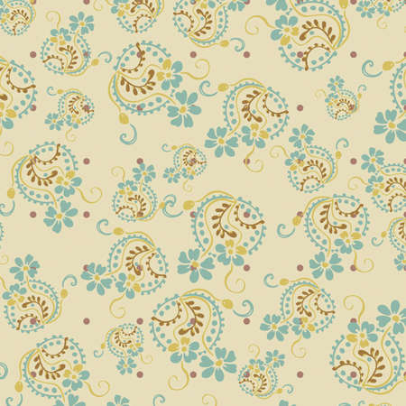 Seamless floral pattern. Flowers texture, paisley pattern Fashionable modern wallpaper or textile Vintage  Stock Vector - 14589519